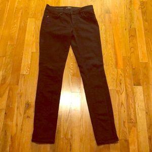 Loft Ann Taylor black skinny jeans